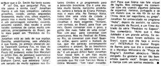 Jonathan Harris no Brasil texto