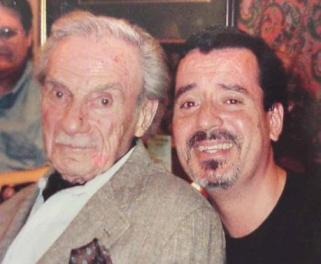 Harris e o fã brasileiro Elias de Lucena, em 2001