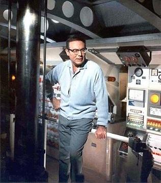 Irwin Allen no set de Viagem ao Fundo do Mar