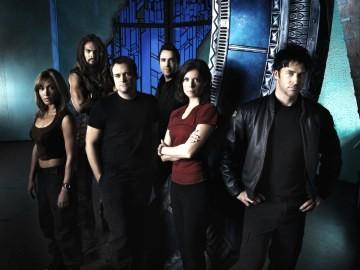 A equipe da série derivada Stargate Atlantis