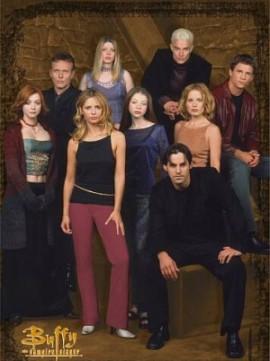 O elenco de Buffy na quinta temporada da série