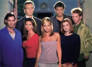 O elenco de Buffy na segunda temporada da série