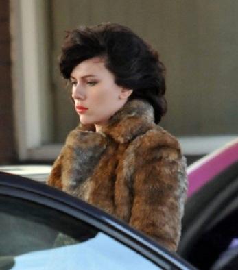 Scarlett Johansson films 'Under The Skin' in Glasgow