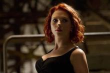 Scarlett Johansson como a Viúva Negra em Os Vingadores