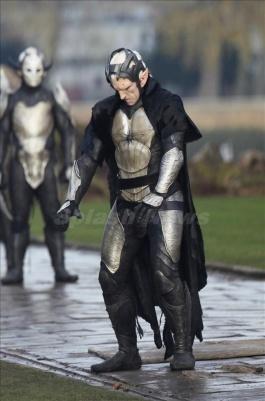 "Chris Hemsworth on the set of ""Thor 2"" facing his darkest enemies, London, UK"
