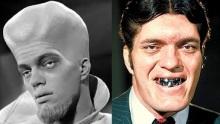 Richard Kiel como um alienígena em Além da Imaginação (1963) e como Dentes de Aço em 007 Contra o Foguete da Morte (1979)