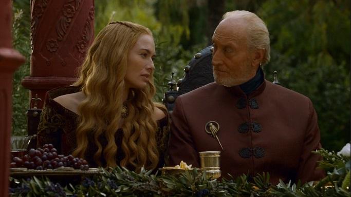 Lena Headay e Charles Dance em Game of Thrones