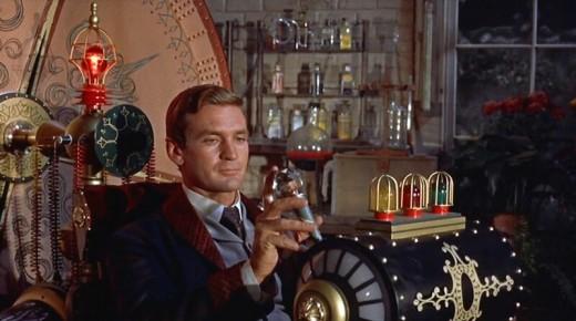 Rod Taylor como H.G. Wells em A Máquina do Tempo (1960)