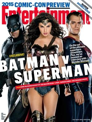 Capa da EW destaca o trio heróico