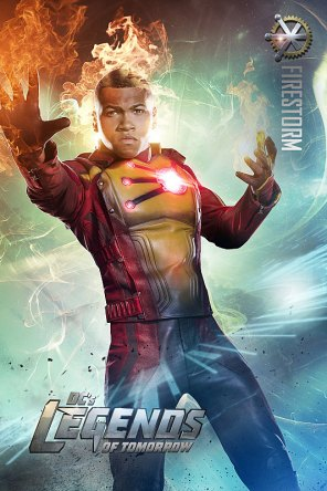 """DC's Legends Of Tomorrow -- Image Number: LGN01_FIRESTORM_V1.jpg -- Pictured: Franz Drameh as Jefferson """"Jax"""" Jackson/Firestorm -- Photo: Jordon Nuttall/The CW -- © 2015 The CW Network, LLC. All rights reserved."""