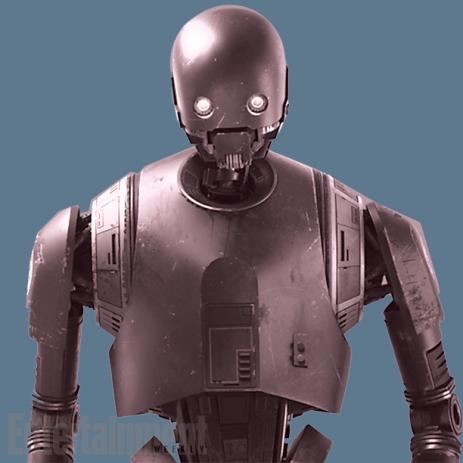 K-2SO (Alan Tudyk): É descrito como a antítese do C-3PO. Kaytoo é um pouco com a personalidade de Chewbacca no corpo de um droid. Ele não dá a mínima pro que você pensa. Ele não verifica a situação antes de falar algo. Ele só fala a verdade.