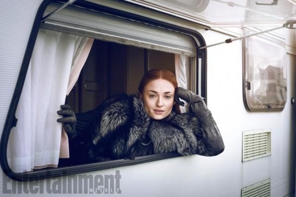 Game of Thrones - Season 7 Sophie Turner Photograph by Marc Hom on November 22, 2016 in Belfast.