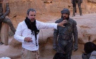 O diretor Denis Villeneuve e Javier Bardem (Stilgar)
